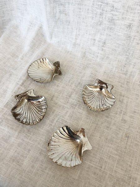 Vintage Shell Trinket Set - Silver