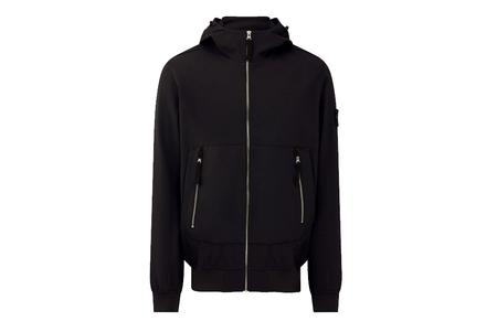 Stone Island Light Soft Shell-R Hooded Jacket - Black