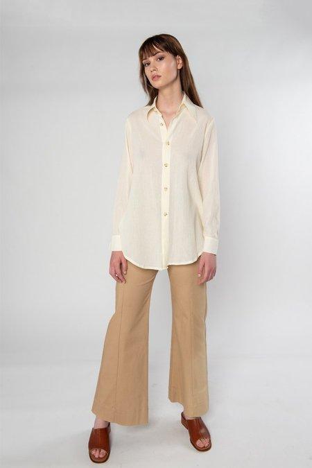Limb The Label Mia Shirt - Cream Crinkle