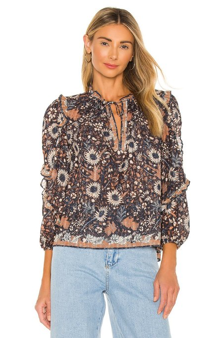 Ulla Johnson Manet Blouse - Obsidian