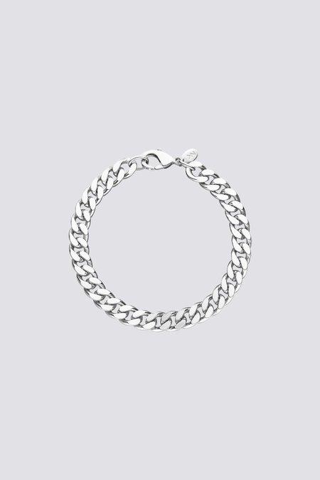 Nina Kastens Big Curb Bracelet - Silver