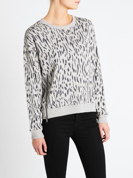 Rails Marlo Knit - Grey Abstract Cheetah