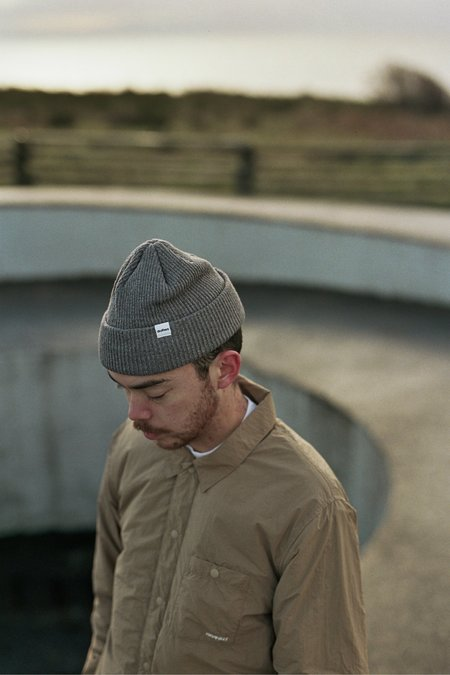 Druthers Recycled Cotton Knit Beanie - Charcoal