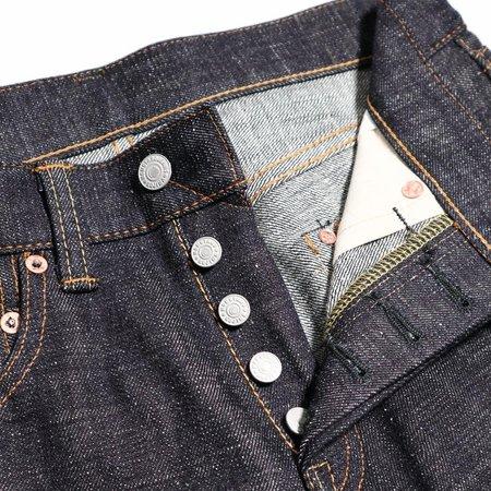 Momotaro Jeans 16oz Texture Denim - blue