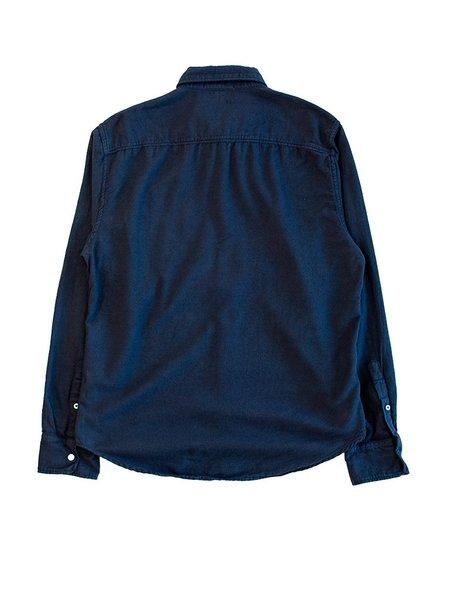 Save Khaki Oatmeal Flannel Shirt - Navy