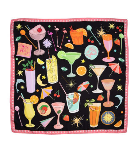 Karen Mabon Happy Hour Silk Scarf - Happy Hour