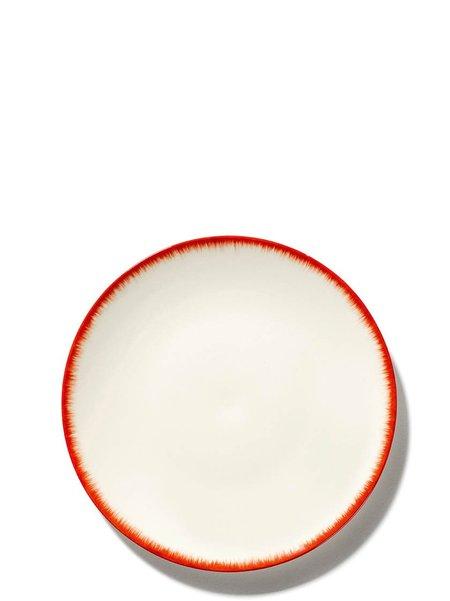 Ann Demeulemeester x Serax 17.5 cm Var 2 Plate - Off-White/Red