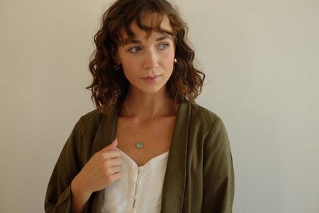 Sarah Safavi Jewelry Mosaic Token Necklace - Gold plated bronze