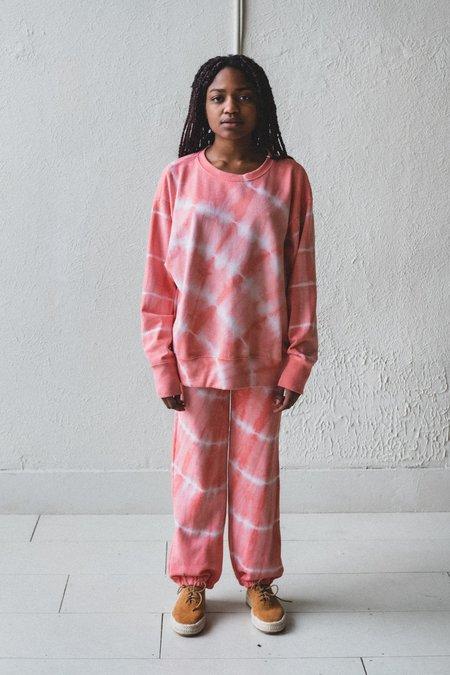 Lacausa Slater Sweatshirt - Grapefruit Tie Dye