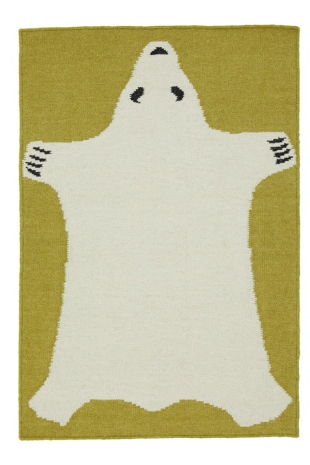 Cold Picnic Polar Bear 2x3 Rug - white