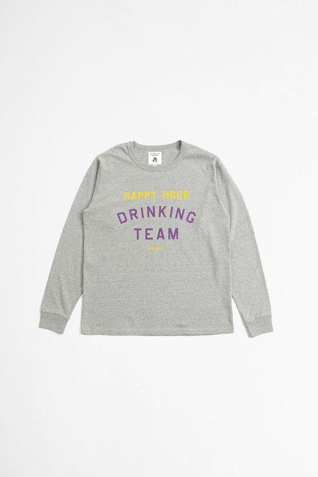 Tacoma Fuji Records Happy hour drinking team t-shirt - heather gray