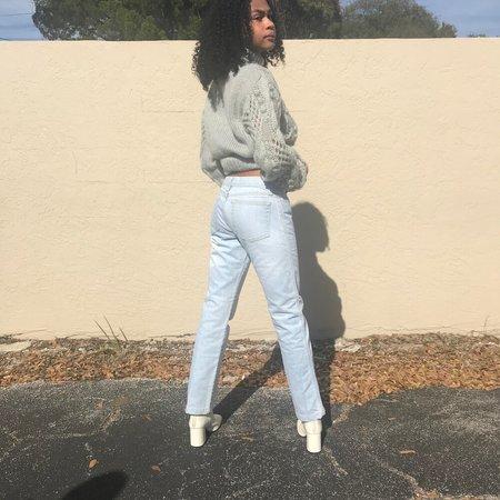 Vintage Strait Leg Pale Jeans