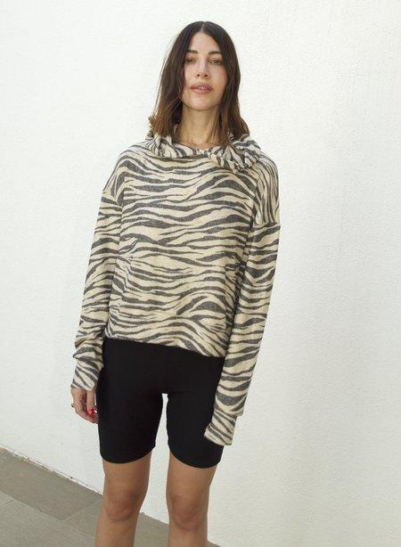 LnA Brushed  Hoodie - Zebra