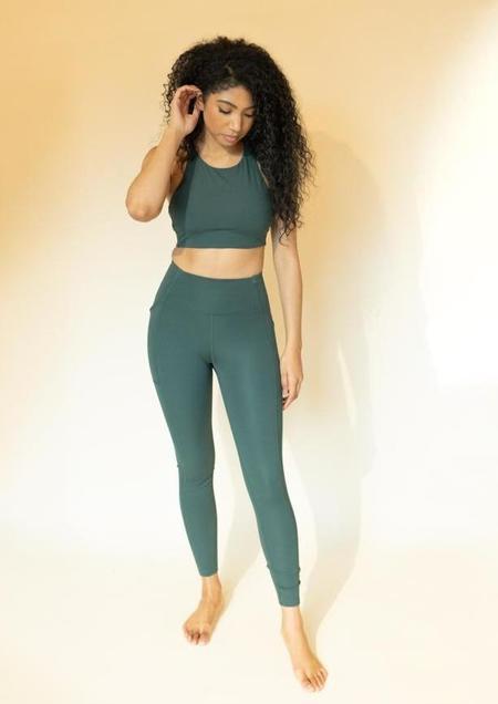 Girlfriend Collective High-Rise Pocket Legging - Moss
