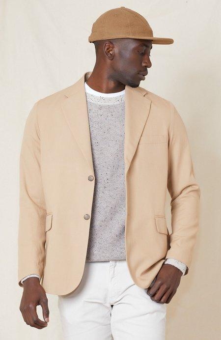 RON HERMAN Cotton Wool Unconstructed Blazer - TAN 4