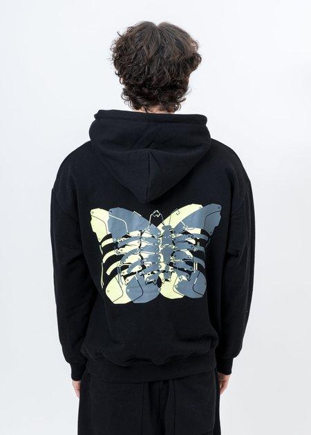 LXVI Butterfly Rib Cage Hoodie - Black