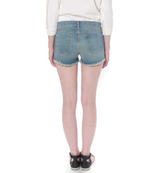 FRAME Denim Le Garçon Cutoff Shorts