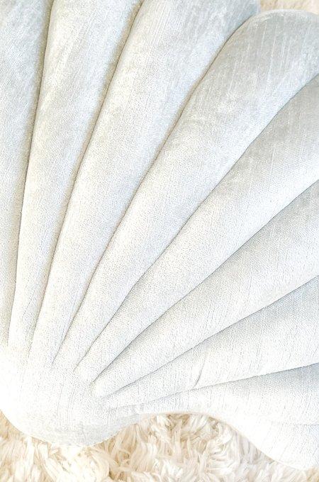 Tamar Mogendorff Velvet Shell Pillow - Ice Blue
