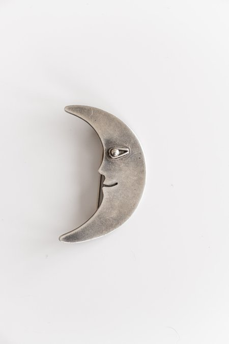 Vintage MOON PIN - sterling silver