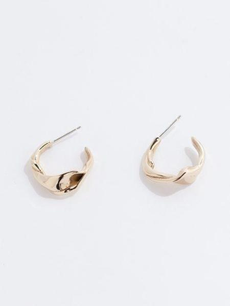 Faris Twist Hoops - Bronze