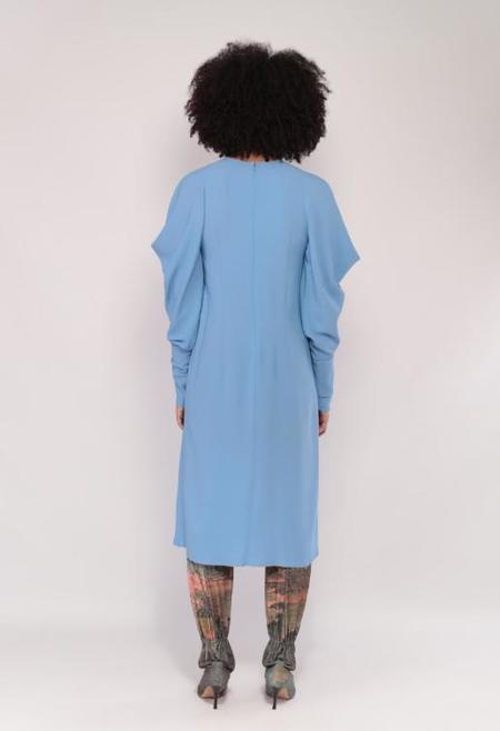 Veronique Leroy Gauloise Crepe Dress - Blue