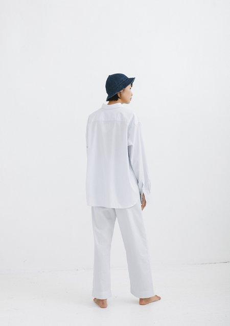Baserange OLE SHIRT (White with Stripe)