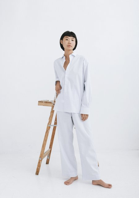 Baserange Ole Trousers - White Stripe