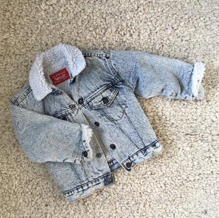 Vintage kids Levi's Sherpa Denim Jacket - blue