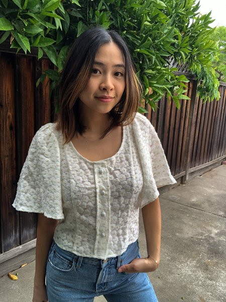 permanent vacation Transient Blouse - Ivory