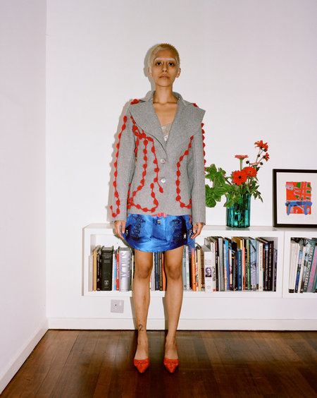 Sydney Pimbley Portcullis Jacket - Grey/Red