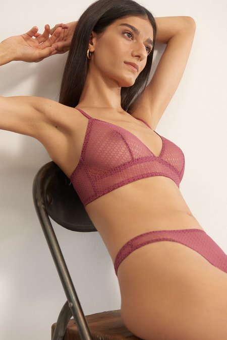 Else Honeycomb Triangle Soft Bra - Orchid