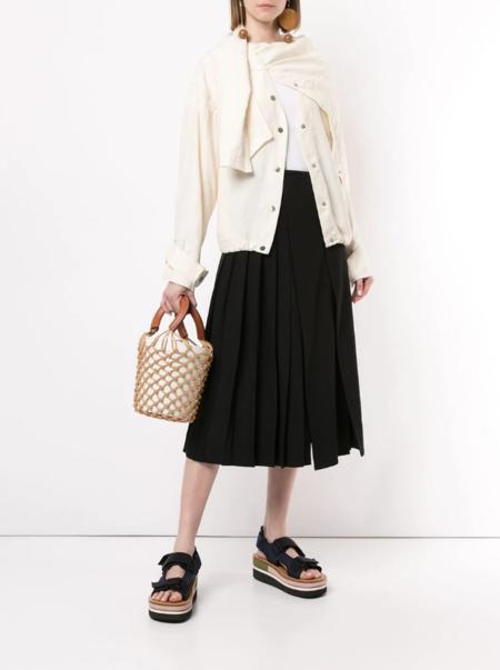 3.1 Phillip Lim Asymmetric Draped Jacket - white