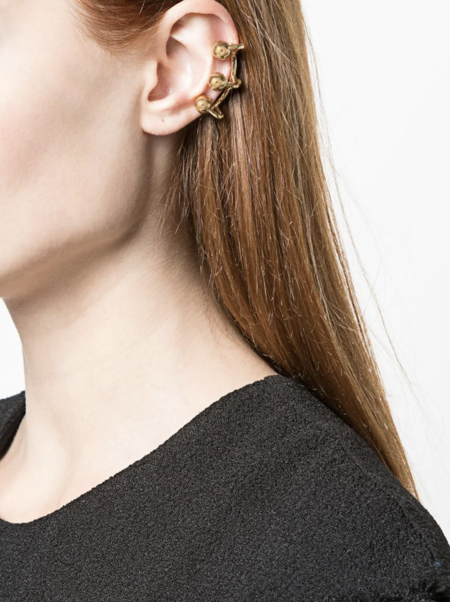 Mugler Ball Ear Cuff - gold