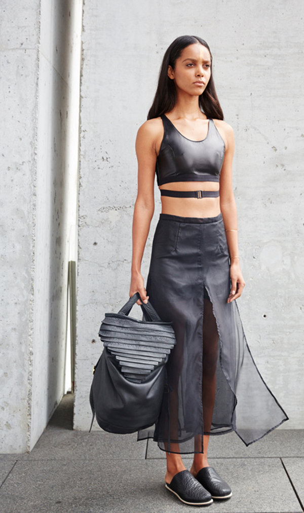 Collina Strada Virgin Islands Bralette Black Leather