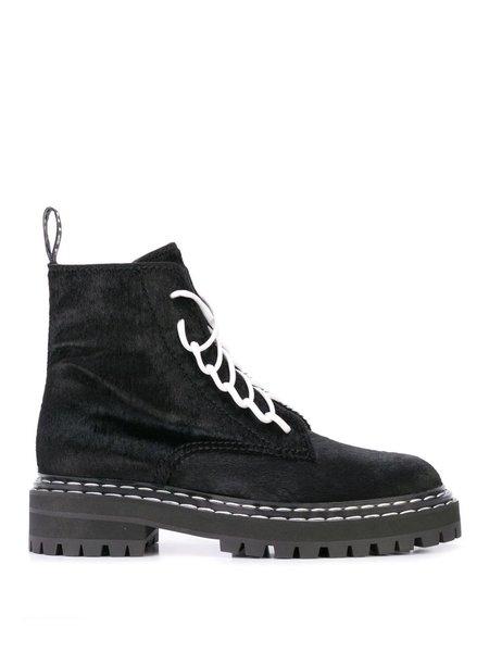 Proenza Schouler Kebir Lace-Front Boots - black