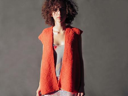 Erica Tanov alpaca cardigan vest