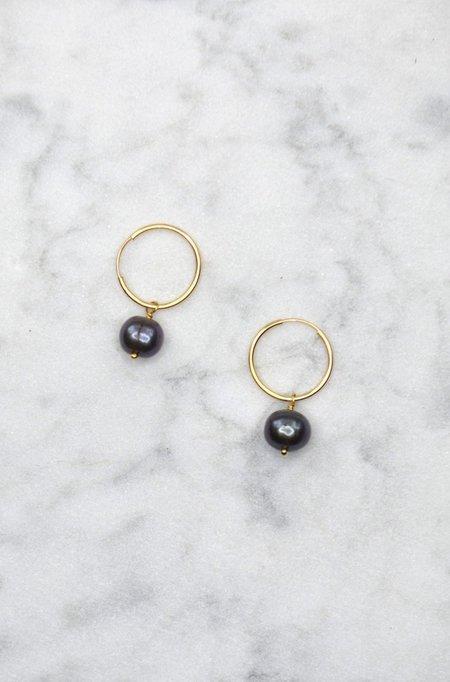 Phyllis + Rosie Pearly Hoop Earrings