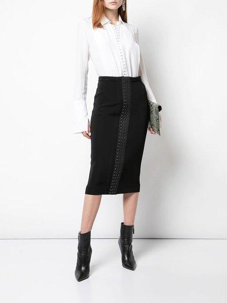 Mugler Over The Knee Skirt - Black