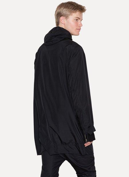 OBSCUR Polyester Silk Rain Coat - Black