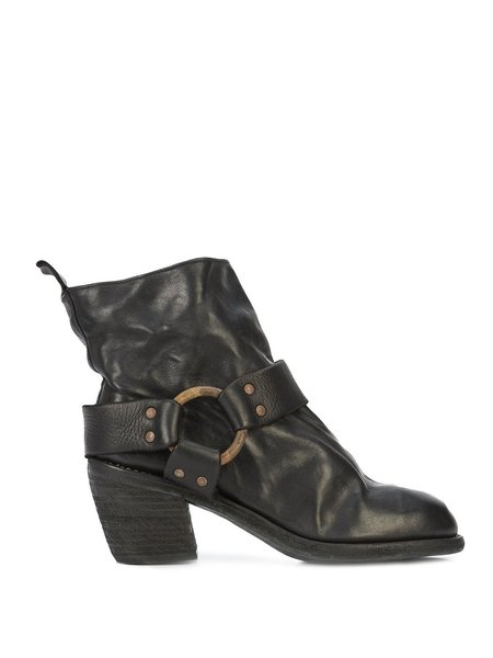 Guidi Soft Horse Cuban Heel Ankle Boots - Black