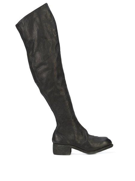 Guidi PL4 Baby Calf Over Knee Zip Boots - Black