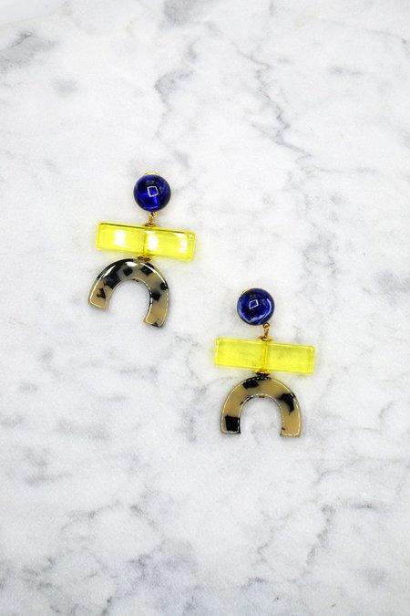 Rachel Comey Stroller Earrings - Yellow/Blue