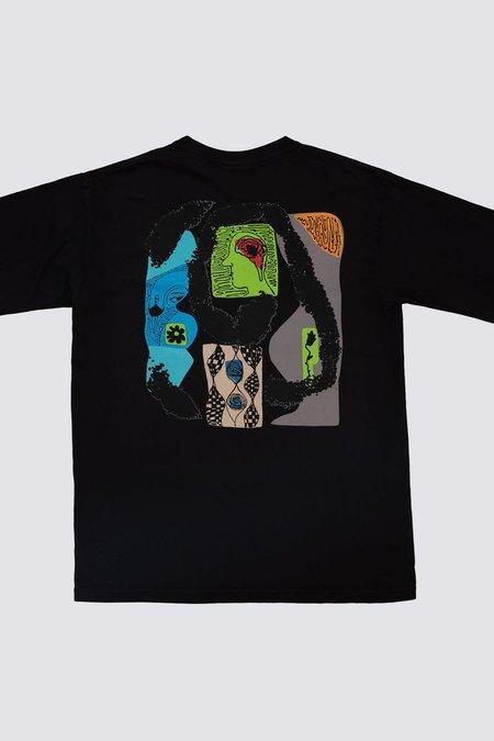 Silent Sound Lymphocytes Long Sleeve Pocket T-Shirt - BLACK