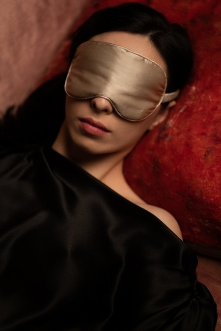KES Silk Sleep Eye Mask - Mauve