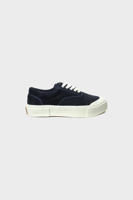 Good News Opal Organic Cotton Cord Sneakers - Navy