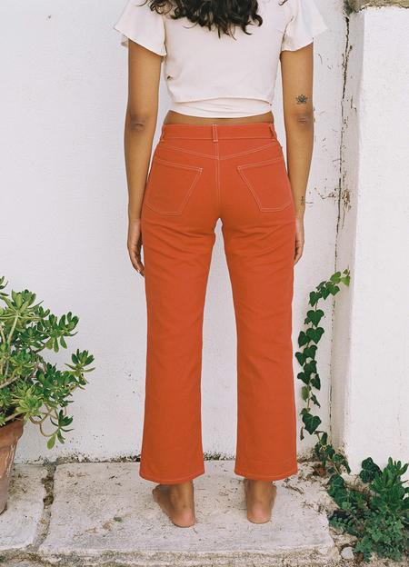 UNISEX Aniela Parys Samba Canvas Trousers - red