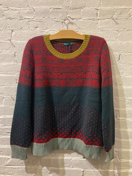 Catherine Andre Faire Isle Style Knit Sweater - Multicolor