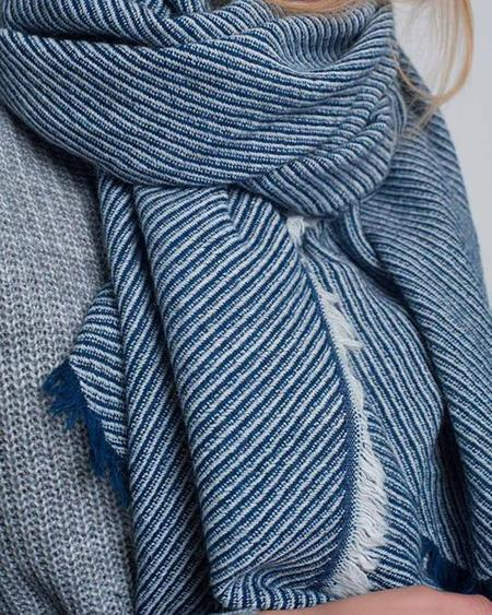 Persons Twill Weave Scarf - Navy