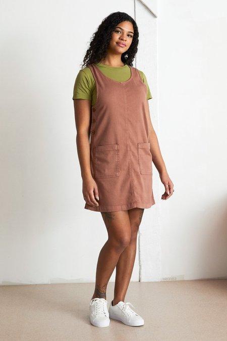 North Of West Caroline Jumper Dress - Terracotta