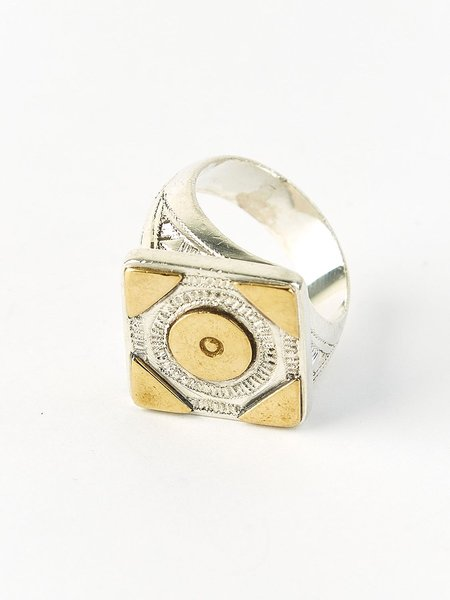Ombre Claire Yanis ring - silver/bronze